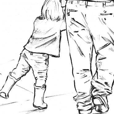 girl illustration yellow boots grandad love cherished moment