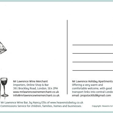 Mr Lawrence Postcard Reverse