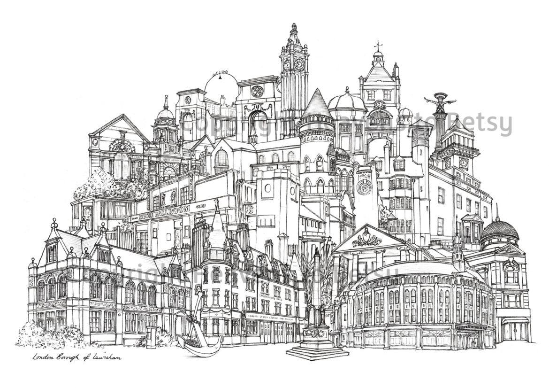 Lewisham Landmarks Celebratory Print